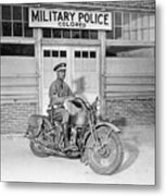 A Military Police Officer Posed Metal Print