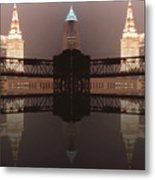 A Mirror Image Reflection Metal Print