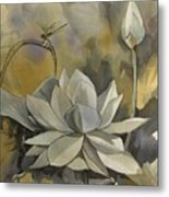 A Moment At The Lotus Pond Metal Print