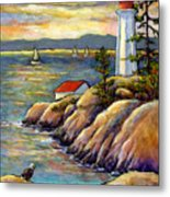 A Moment By The Sea Metal Print