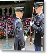 Face To Face During The Changing Of The Guard Metal Print