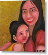 A Moment With Mom Metal Print