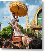 A Monk Ordination Festival Metal Print