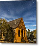 A Moonlit Nightscape Of The Historic Metal Print