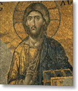 A Mosaic Of Jesus The Christ At St Metal Print