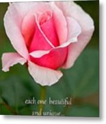 A Mother Is Like A Flower Metal Print