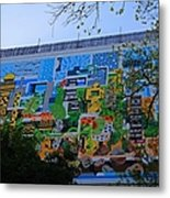 A Mural On The San Antonio Riverwalk Metal Print