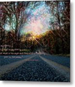 A Mysterious Country Road Metal Print