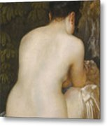 A Naked Woman Seen From Behind Metal Print