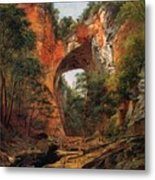 A Natural Bridge In Virginia Metal Print