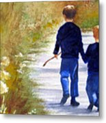 A Nature Walk Metal Print