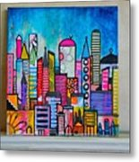 A New 12 X12 #cityscape #collage Metal Print