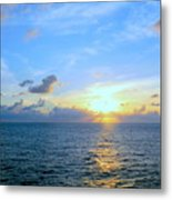 A New Dawn At Sea Metal Print