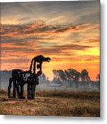 A New Day The Iron Horse Metal Print