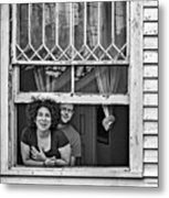 A New Orleans Greeting 2 Bw Metal Print