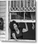 A New Orleans Greeting Bw Metal Print