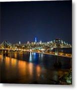 A New York City Night Metal Print