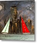 A New York Sail Metal Print
