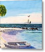 A Nice Day At The Beach Metal Print