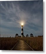 A Night At Bodie Island Lighthouse Metal Print