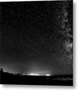 A Night At The Beach 11 Bw Metal Print