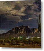 A Night In The Superstitions  Metal Print