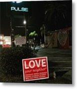 A Night Walk In Orlando  Metal Print