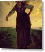 A Norman Milkmaid At Greville Metal Print