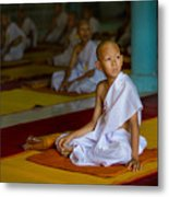 A Novice Monk In Rural Thailand Metal Print