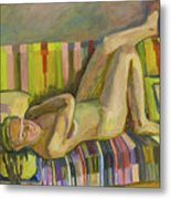 A Nude Lying Legs Up Metal Print