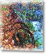 A Once Upon A Time Wooden Water Pipe Metal Print