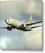 A P-8a Poseidon In Flight Metal Print
