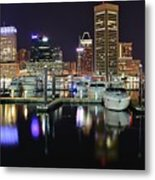 A Panoramic Baltimore Night Metal Print