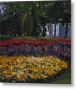 A Park In Cambrige Metal Print
