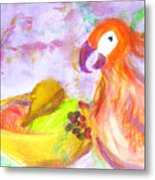A Parrot And The Passion Fruit Metal Print