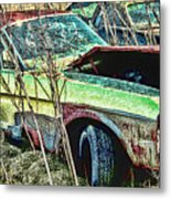 A Parted Out Mustang Metal Print