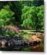 A Peaceful Feeling At The Azalea Pond Metal Print