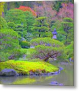 A Peaceful Garden Metal Print