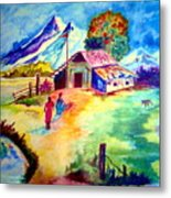 A Peaceful World...far From The Maddening Crowd Metal Print
