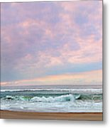 Panoramic Photograph Of A Peaceful Sunrise At Lake St Lucia In South Africa Metal Print
