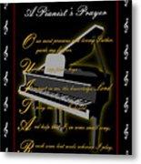 A Pianists Prayer_1 Metal Print by Joe Greenidge