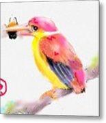 A Pink Rainbow Metal Print