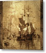 A Pirate Looks At Forty Schooner Wharf Metal Print