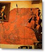 A Pirates Map Room Metal Print