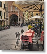 A Pisa Cafe Metal Print