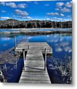 A Place To Dock On The Moose Metal Print