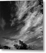 A Plane In The Clouds Metal Print