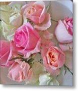 A Plate Of Roses Metal Print