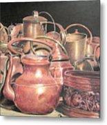 A Plethora Of Pots Metal Print