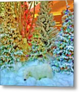 A Polar Bear Christmas 2 Metal Print